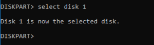 select disk